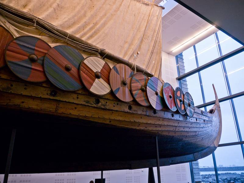 Islendingur knörr at Vikingaheimar ship museum. Egils Zarins photo.